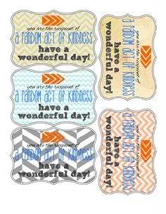 Random Acts of Kindness - printables RAK week Feb Kindness Projects, Kindness Ideas, Kindness Notes, Blessing Bags, Kindness Matters, Character Education, Good Deeds, Girls Camp, Random Acts