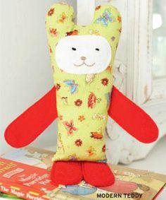 modern teddy free plushie pattern