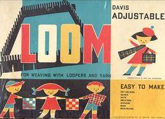 Vintage children's weaving loom!