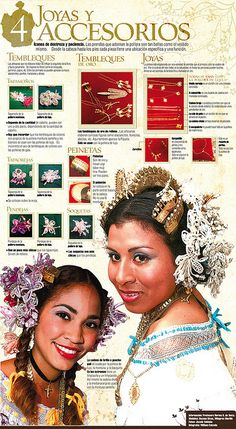 Jewlery and accesories of Panama's folkloric dress #Panama #Pollera #Infographic Shared by www.SpeakingLatino.com
