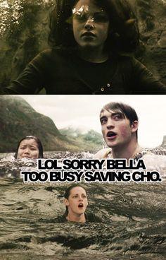Cedric Diggory Lives!! or Edward Cullen developes common sense... Hm...