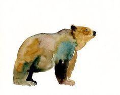 Bear, watercolor by Dimdi - Found on www.etsy.com via Tumblr
