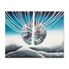 Full Moon Astronomy Painting Original Sky by hjmArtGallery on Etsy