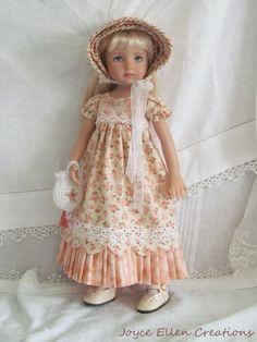 "13"" Effner Little Darling BJD fashion peach Regency OOAK handmade by JEC #Unbranded #ClothingAccessories"