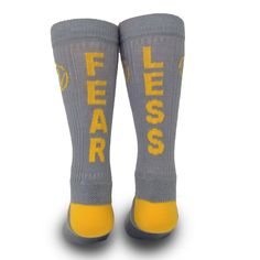 Fearless - 2015 Collection When you need the motivation to get your goals accomplished, you wear inspyr socks. Come find your message today friends. #socks #quotes