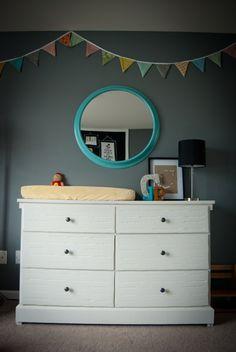 Love the mirror #projectnursery #franklinandben #nursery