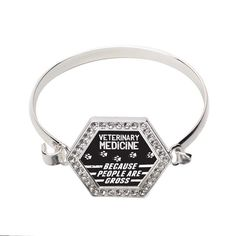 Veterinary Medicine Hexagon Bracelet @ Inspired Silver