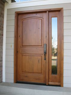 High Quality Half Light Exterior Doors | ... For Fantastic Single Large Wooden Half  Glass Lite