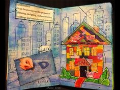 Pick a Stick Challenge October - Mixed Media Art Journal Page - #PASC1016 - YouTube