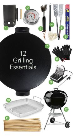 12 Grilling Essentials from @Amy Johnson / She Wears Many Hats