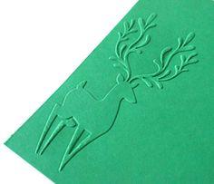 Embossed cardstock  Deer in Corner  you choose by TheCraftingPlace