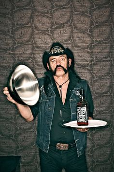 Lemmy shot for Observer Food Monthly in 2010