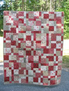 Disappearing 9 patch...Andrea's 40th birthday quilt