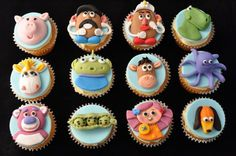 Cakes and Sweets by Ee Peng Festa Toy Story, Toy Story Party, Toy Story Birthday, Birthday Ideas, Making Cupcakes, How To Make Cupcakes, Cupcake Ideas, Cupcake Toppers, Toy Story Cakes