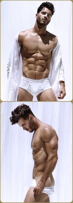Male Model, Good Looking, Beautiful Man, Guy, Hot, Sexy, Handsome, Eye Candy, Beard, Muscle, Abs, Sixpack, Shirtless, Undies, Underwear 男性モデル アンダーウェア 下着