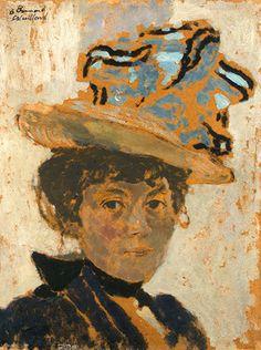 Edouard Vuillard (French, 1868-1940) - Madame Bonnard, c. 1895-1900 - Oil on cardboard
