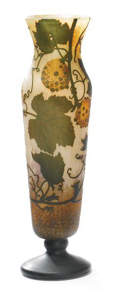 VASE *  Daum glass - circa 1900