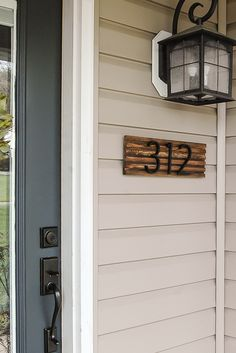 How to Make a Modern House Number Sign Beautiful Modern houses