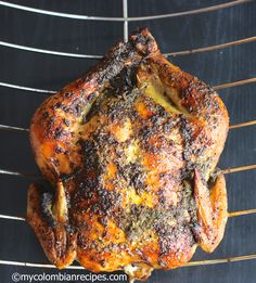 Pollo Asado Colombiano (Colombian Style Roasted Chicken)