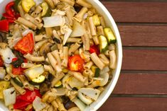 Summer Roasted Vegetables with Brown Rice Pasta