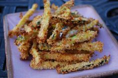 Crispy Baked Zucchini Parmesan Fries. who knew baked zucchini would look as good as french fried potatoes!
