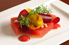 Chef Michael Anthony's Watermelon Salad with Beets - The Chefs Connection #chefs #watermelon #salad