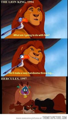 Disney has a great sense of humor. I always knew it was Scar.