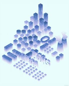 Megapolis   poster by Alex Pyliov, via Behance