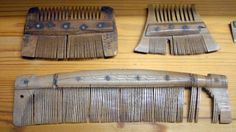 Medieval combs in the Archaeological Museum of Novgorod, Russia
