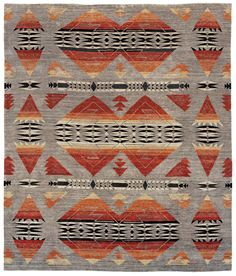 The Pendleton Collection is drawn from the Pendleton and other historic blanked designs. The rugs are hand-knotted with approximately 80 knots to the square inch. Southwest Looms uses high quality New Zealand wool and colorfast Swiss Chrome dyes to...