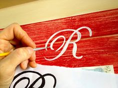 How to do letter stenciling on wood signs