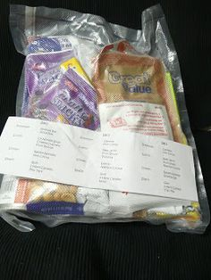 Everything in 72 hour kit Relief Society Activity (not just food)