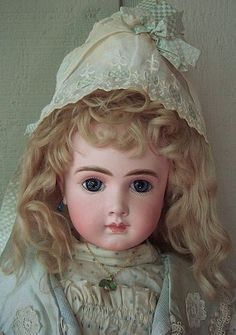 """RARE 23"""" AT Antique Doll by Thuiller Layaway - Three Sisters Antiques #dollshopsunited"""