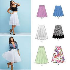 Misses' 3/4 Circle Skirt with Length Variations