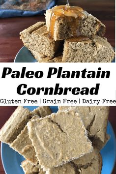 This light and fluffy Paleo Plantain Cornbread uses only 5 ingredients so you can easily make a healthy, slightly sweet treat! This light and fluffy Paleo Plantain Cornbread uses only 5 ingredients so you can easily make a healthy, slightly sweet treat! Breakfast Bread Recipes, Paleo Breakfast, Paleo Side Dishes, Food Dishes, Paleo Recipes, Real Food Recipes, Muffin Recipes, Free Recipes, Snack Recipes