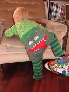 Free ravelry pattern for monster pants! I wish I could fit into these!