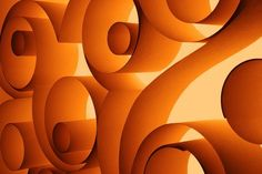 Orange Swirls; maybe commission a paper swirl work of art and frame it behind the counter?