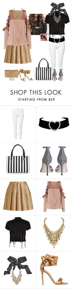 """""""Awesome night"""" by svetlozeme on Polyvore featuring Mother, Dolce&Gabbana, Zimmermann, Victoria's Secret, Creatures of the Wind, Cushnie Et Ochs, River Island, GUESS by Marciano, Gianvito Rossi and Whiting & Davis"""