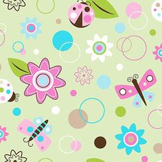 Creative Cuts So Soft Fleece Fabric, Flowers N Friends Print
