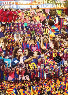 Barca Collage - Forca Barca