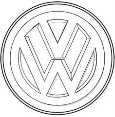 volkswagen logo coloring sheet