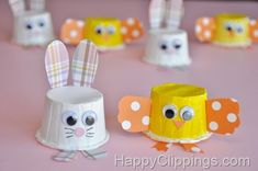 Great Ideas -- 25 COLORFUL and BRIGHT Spring Projects!! -- Tatertots and Jello K Cup Crafts, Paper Cup Crafts, Easy Easter Crafts, Bunny Crafts, Easter Crafts For Kids, Preschool Crafts, Paper Cups, Easter Ideas, Diy Paper