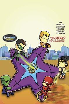 "Justice League of America #12 ""Scribblenauts"" variant | DC Comic Variant Covers Get A ""Scribblenauts"" Makeover"