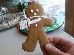 broken arm gingerbread