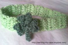 Earning-My-Cape: Crochet Clover Headband (free pattern) Too cute for St. Patty's Day