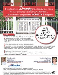 Down Payment Assistant - Home Grant - Home in Five