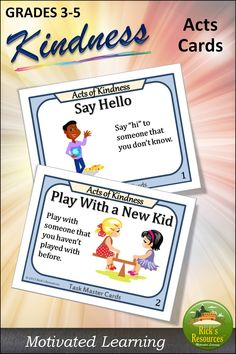 A wonderful way to promote kindness in the school and classroom. Simple Prints, Played Yourself, Private School, Learning Resources, New Kids, Classroom Activities, Say Hi, Task Cards, Social Skills
