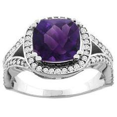 https://ariani-shop.com/14k-white-yellow-gold-natural-amethyst-split-ring-cushion-8x8mm-diamond-accent-1-2-inch-wide-sizes-5--10 14K White/Yellow Gold Natural Amethyst Split Ring Cushion 8x8mm Diamond Accent 1/2 inch wide, sizes 5 - 10