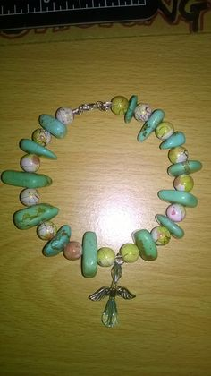 Another gaurdian angel bracelet, with turquoise howlite which has healing properties