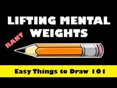 Lifting Mental Weights - Easy Things to Draw #learntodrawathome #eaydrawingsforbeginners #howtodraw #learntodraw #freeonlinedrawingtutorials